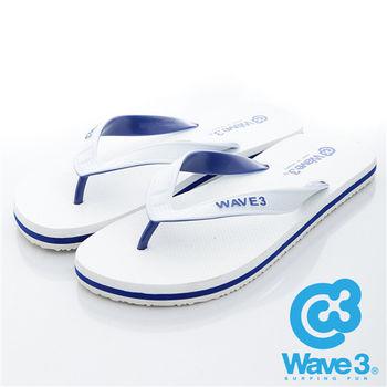 WAVE 3 (男) - 雙子座 獨家設計ESP 四代雙色鞋耳人字夾腳拖鞋 - 灰白
