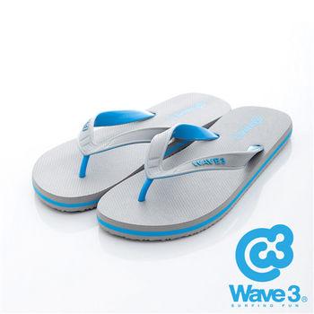 WAVE 3 (男) - 雙子座 獨家設計ESP 四代雙色鞋耳人字夾腳拖鞋 - 藍灰