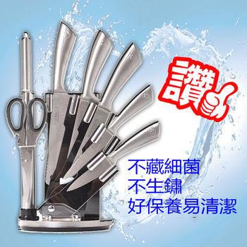 WASHAMl-廚神不鏽鋼一體成型刀具8件組