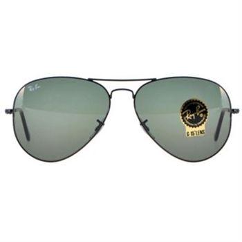 【Ray-Ban 雷朋】3026-L2821-62-經典飛官款太陽眼鏡(#黑框-綠鏡面-大版)