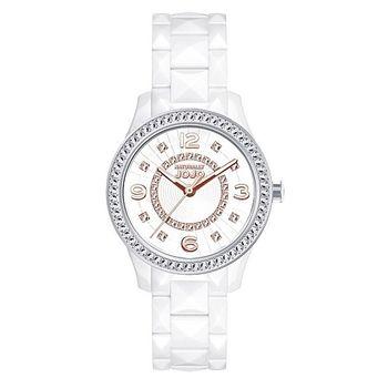 NATURALLY JOJO全陶瓷晶鑽腕錶-白/37mm(JO96835-80R)