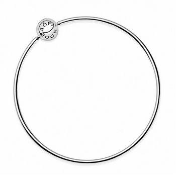 【Pandora】Essence系列水鑽純銀硬環手環(596006-18cm)