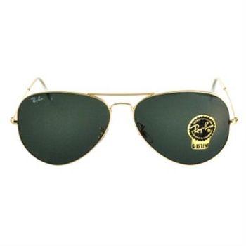 【Ray-Ban 雷朋】3025-001-62飛官太陽眼鏡(#金邊雷朋綠鏡面-大版)