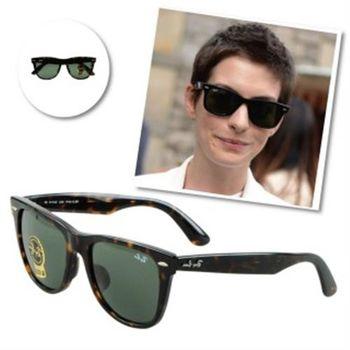 【Ray-Ban雷朋】2140F-902-52-亞洲版太陽眼鏡(#-琥珀框綠鏡面-小版)