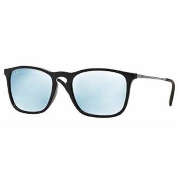 【Ray-Ban雷朋】4187F-601/30亞洲加高鼻墊款-Chris水銀系列太陽眼鏡(水銀鏡面/黑框)