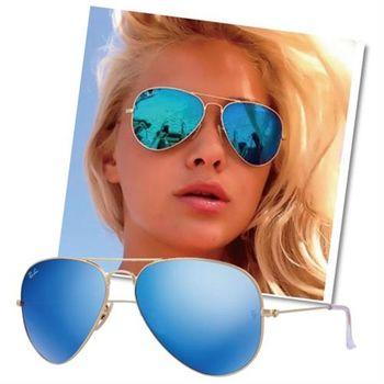 【Ray Ban雷朋】RB3025 112/17經典款水銀鏡面太陽眼鏡(水銀藍-小版)