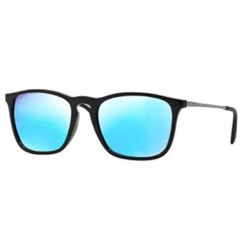【Ray Ban雷朋】4187F-601/55亞洲加高鼻墊款-Chris水銀系列太陽眼鏡(水銀藍鏡面/黑框)