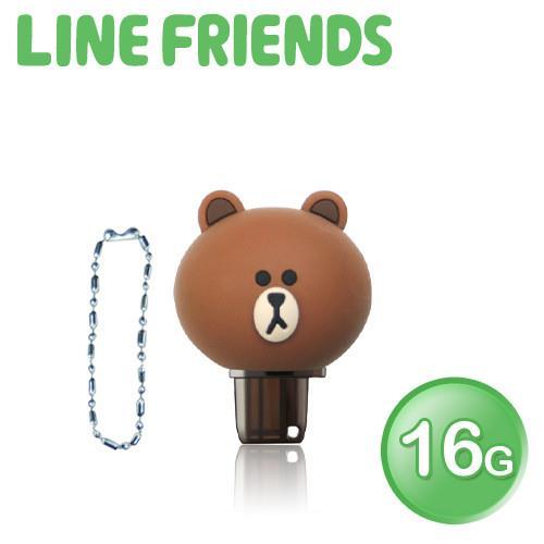 LINE FRIENDS 立體造型 16GB OTG雙介面隨身碟 QQ熊大(LNWH251B)