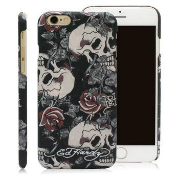 ED HARDY iPhone6 plus/6s plus (5.5)保護殼-骷髏玫瑰