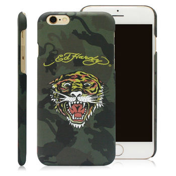 ED HARDY iPhone6 plus/6s plus (5.5)保護殼-迷彩老虎