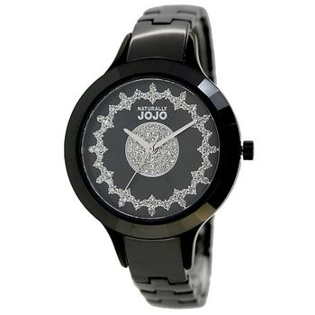 NATURALLY JOJO時尚纖細陶瓷腕錶-黑/36mm (JO96845-88F)