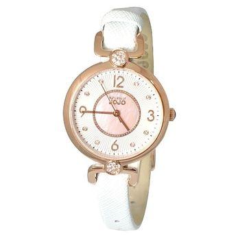 NATURALLY JOJO優雅經典皮革時尚腕錶-玫瑰金/32mm(JO96885-11R)