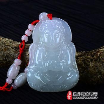 【東方翡翠寶石】天上聖母/媽祖A貨天然翡翠花件玉墜 (糯冰種)MD015