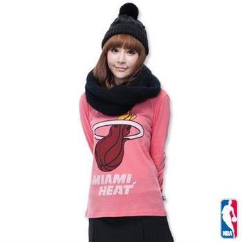 NBA-邁阿密熱火隊棉質圓領T恤-淺粉紅(女)