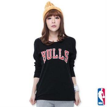 NBA-芝加哥公牛隊圓點長袖T恤-黑(女)
