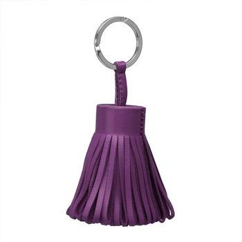 HERMES Carmen系列流蘇造形山羊皮鑰匙圈/吊飾(葡萄紫)