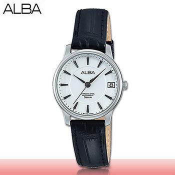 【SEIKO 精工 ALBA 系列】送禮首選_精緻經典_皮革指針型女錶(AG8521X1)