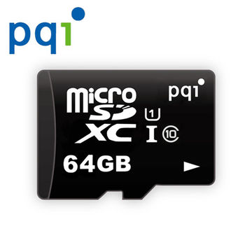 PQI 64GB micro SDXC C10 快閃記憶卡(無轉卡)