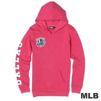 NBA-達拉斯小牛隊袖印花長版長袖連帽T-粉紅(女)