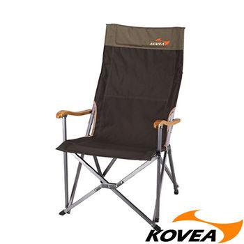 【韓國KOVEA露營戶外用品】FB休閒高背折收椅-竹扶手