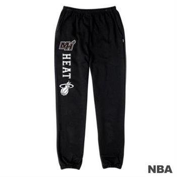 NBA-邁阿密熱火隊印花縮口綿長褲-黑色(女)