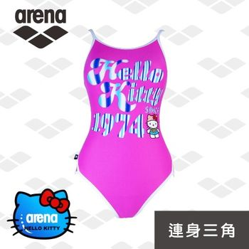 arena x Hello Kitty美式復古女連身三角泳衣ARKT301W