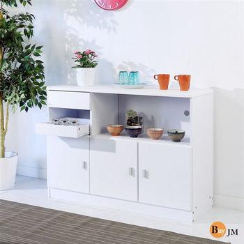 BuyJM 防潑水三門一抽一托盤廚房櫃/餐櫃/收納櫃