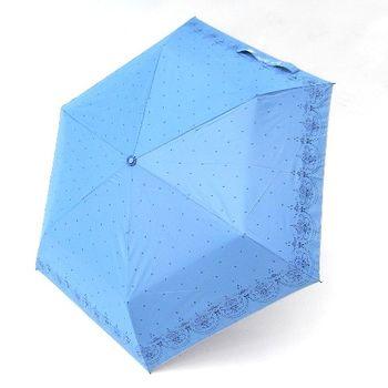 【好傘王】手開傘系_星空蕾絲傘(水藍)