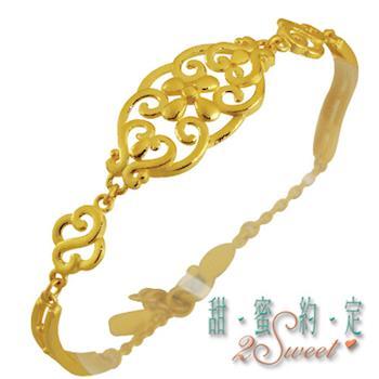 【甜蜜約定】純金手鍊HC-S1426
