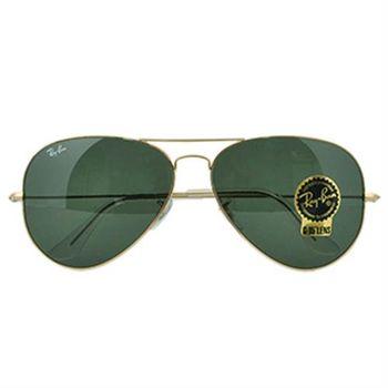 【Ray-Ban雷朋】3026-L2846-62-經典飛官款太陽眼鏡(#金邊綠鏡面-大版)