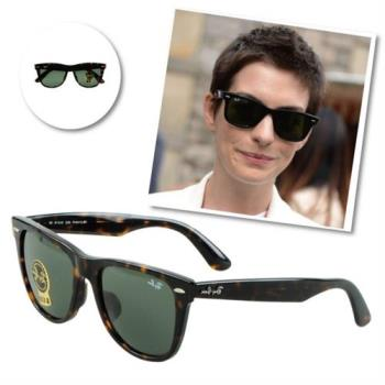 【Ray-Ban雷朋】2140F-902-54亞洲版太陽眼鏡(#琥珀框綠鏡面-大版)