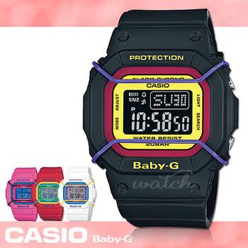 【CASIO 卡西歐 Baby-G 系列】復古時尚防撞設計運動女錶(BGD-501)