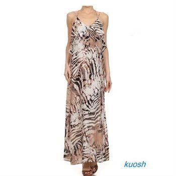 【kuosh】美國進口媚麗連身長裙(NS-5299)