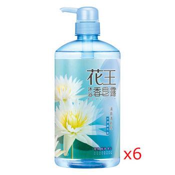 花王香皂露  清爽清新型 水澤蓮花香 750ml (6入)