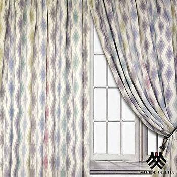 《M.B.H─戀戀幾何》落地穿掛遮光窗簾(270*230cm)