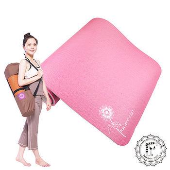 Fun Sport 【微笑心花】環保雙色瑜珈墊(厚12mm)(灰紅)送Easy Go背袋