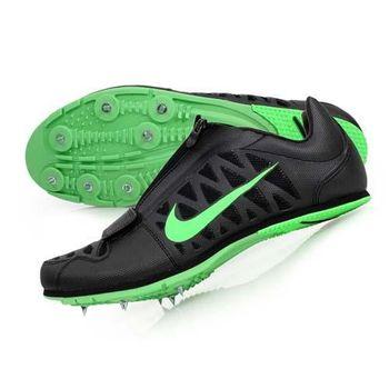 【NIKE】男田徑釘鞋- 跳遠 撐竿跳 競賽 訓練 附鞋袋 黑螢光綠