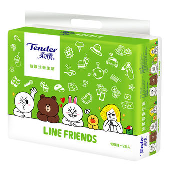 【柔情】抽取式100抽*12包*6袋-LINE授權版/箱