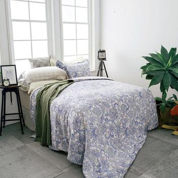 BBL 蔓蕾風情100%萊賽爾纖維(天絲®).印花雙人兩用被床包組
