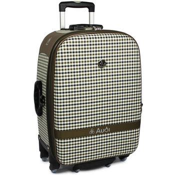 【Audi 奧迪】20吋方格紋Audi行李箱旅行箱M-61520-棕