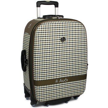 【Audi 奧迪】25吋方格紋Audi行李箱旅行箱M-61525-棕
