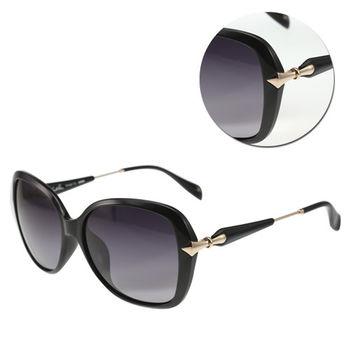 【Arnold Palmer 花雨傘】優雅方形灰色黑框太陽眼鏡(AP11679-C025)