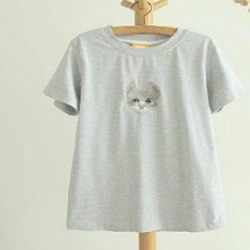 [協賀]刺繡小貓咪T恤