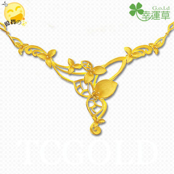 幸運草金飾-華麗年代-純金項鍊