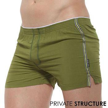【PRIVATE STRUCTURE】拳王系列-超彈舒適平口褲男內褲(橄欖綠)