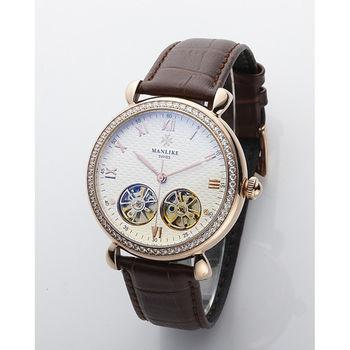 Manlike極致奢華雙擺輪機械錶(送蟠龍腕筆)