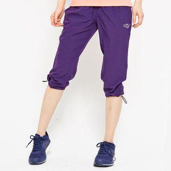 FIVE UP-舒適縮口風衣七分褲-紫