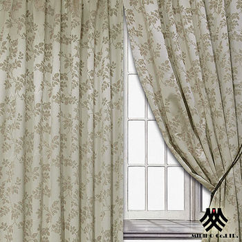 《M.B.H─秋意巧思》半腰穿掛窗簾(金)(270*165cm)