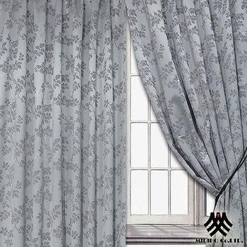 《M.B.H─秋意巧思》半腰穿掛窗簾(銀)(270*165cm)