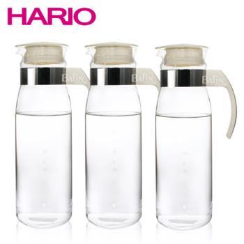 【日本 HARIO】耐熱玻璃冷水瓶1400ml (3入組)